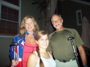 1) Wednesday night, Crystal Schelmety, captain of the Miami Dragon Slayers, arrived with her parents Debbie and Harry. Having first begun to paddle a Dragon Boat at the age of 12, Crystal Schelmety is a well-known figure in the sport. She is president of the Southeastern U.S. Dragon Boat Association.