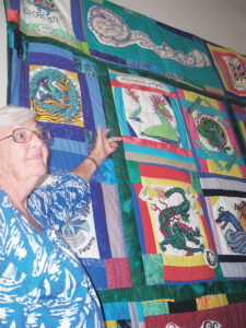 Town resident Edith Wright won the quilt in 2006. She donated the relic back to the Oriental Museum to be raffled again.