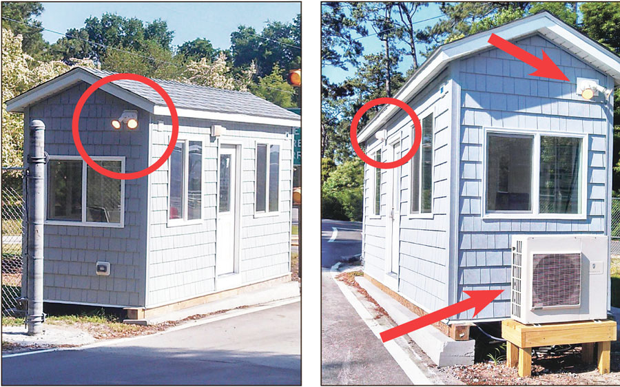 Lights and heat pump for the unoccupied tollbooth now operate 24 hours a day, 7 days a week. An alert motorist snapped these photos Wednesday afternoon. Photocopies of the electric bill for this structure have been requested by The County Compass under the state's Public Records law.