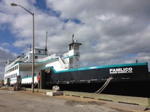 The M/V Pamlico is one of North Carolina's oldest ferries, in operation since 1965.