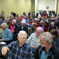 Opponents of a proposed wind energy project outnumbered supporters during a 'jam packed' Jan. 2 public hearing at the Civic Center.