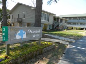 Oriental West was the town's first condo-plex, built in the late 1980s.