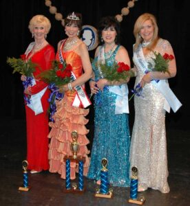 From left, third runner-up Joyce Ledbetter; queen Flora Moorman; first runner-up Debbie Lewis; and, second runner-up Patti Meese.