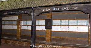 A Memorial to Heroes in Postman's Park. (Photo credit: Simon Lock)