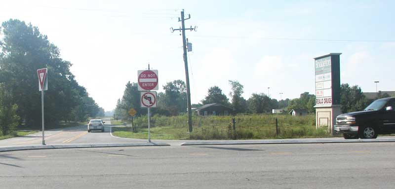 Motorists from Blueberry Lane are now prohibited from turning left. The mandatory right turn adds more than a mile, plus at least five minutes, for those who want to head east on Highway 55.
