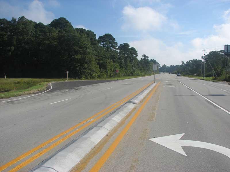 Perhaps the screwiest U-turn in eastern North Carolina.