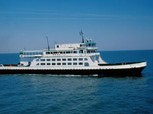 This file photo shows the state ferry vessel known as the Silver Lake,which experienced a loss of all steering during a late Saturday afternoon trip from Ocracoke to Cedar Island.