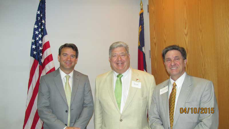 From left: Dr Steven Hill, NC East Alliance; State Sen. Bill Cook; and, John Chaffee, President of NC East Alliance.