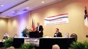 Thom Tillis, the junior U.S. Senator from North Carolina, was the convention's keynote speaker.