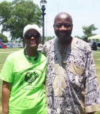 Lenora Jarvis-Mackey, President and CEO of River City Community Development Corporation, with Dr. Johnny Houston, the Festival's featured speaker.