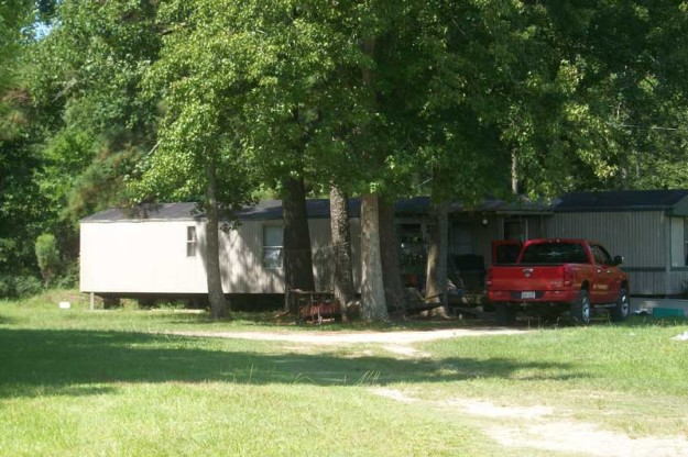 Gary Rufus Miller was arrested at this remote trailer Tuesday night and charged with manufacturing methamphetamine.
