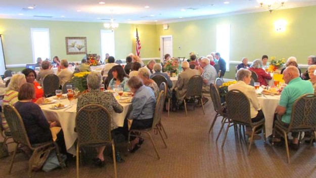 Tuesday's luncheon attracted a large crowd.