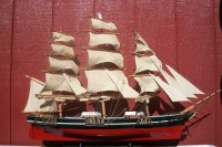 Scale model of Cutty Sark, a British Clipper Ship built in 1869