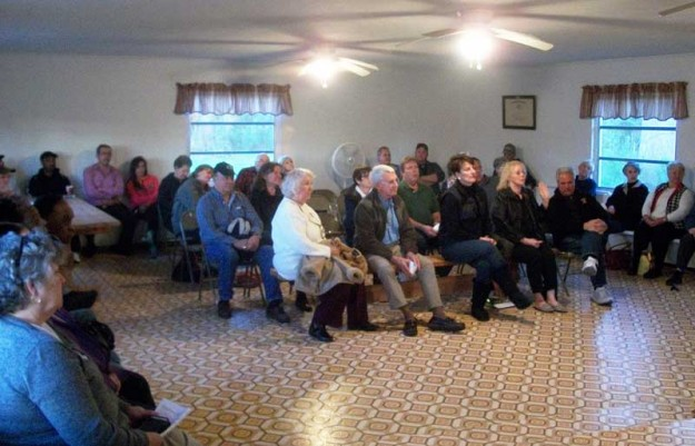 "Approximately 50 people attended the meeting organized by ""People for a Better Aurora & Richland Township"""
