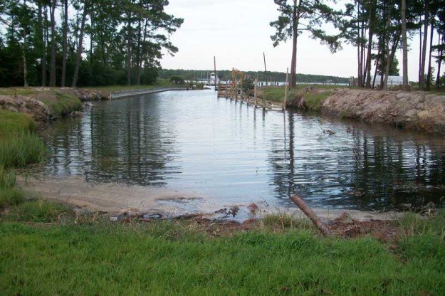 The original boat ramp was not much to look at in this photo taken during late summer of 2015 before construction began.