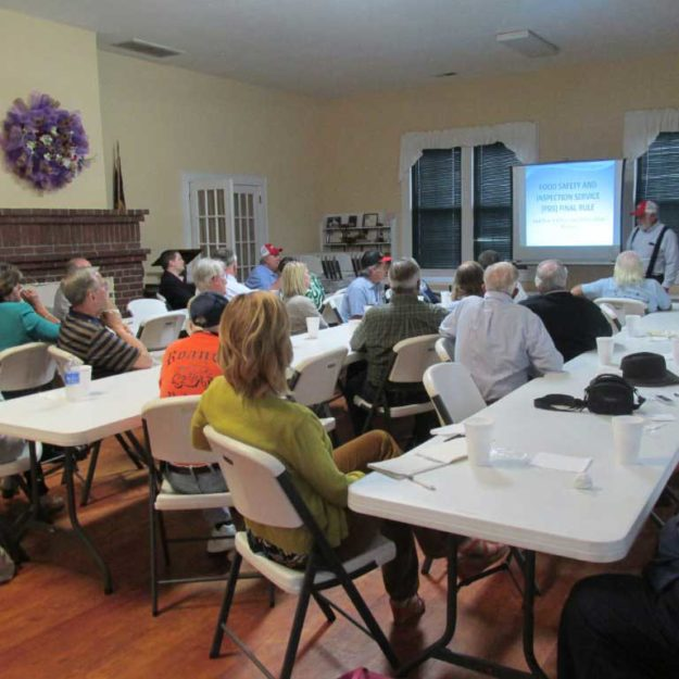 Despite the distractions of other Friday night happenings, the meeting was well attended.