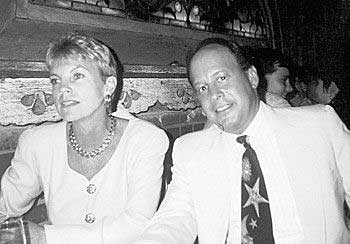 Hirschfeld with his wife Loretta.