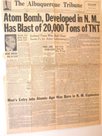 News of the Manhattan Project leaked to the Sante Fe newspaper, just two days before the first atomic bomb was deployed against Japan.