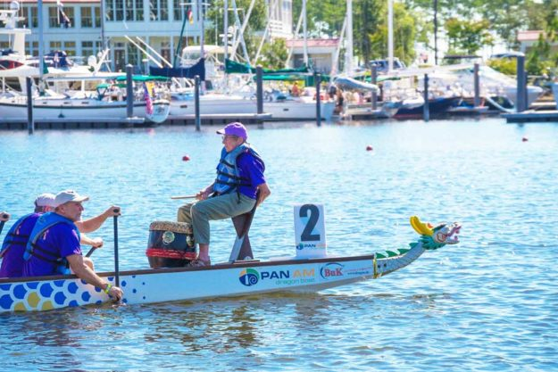 Draggin' Tails, led by drummer and family matriarch Fran Deaton, returns to the Oriental Dragon Boat Race and Festival for the seventh consecutive year. The event is hosted by River Dunes.