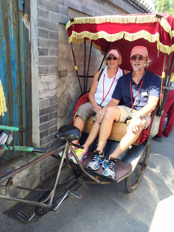 A rickshaw perhaps? No, John and Ellen Chappell describe this as a pedicab service in a Beijing neighborhood known as a 'hutong.'