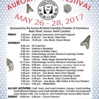 24th Anniversary Aurora Fossil Festival Schedule